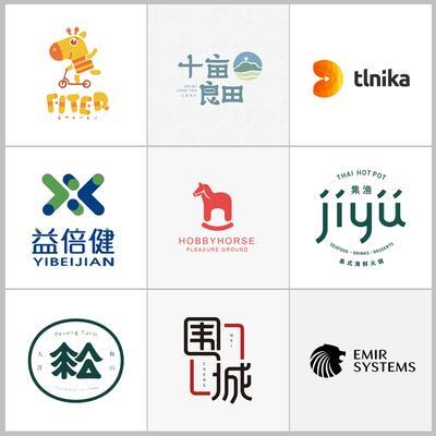 logo设计原创商标包装品牌公司企业VI卡通图标志字体制作满意为止