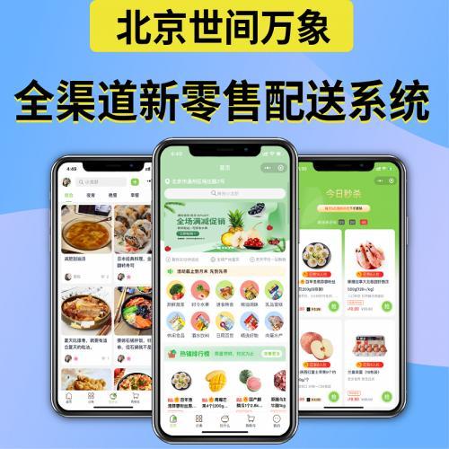 叮咚买菜APP开发商城生鲜配送系统跑腿软件平台外卖app